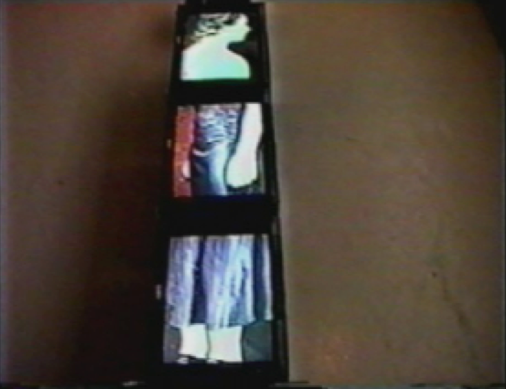 In This Space, 3 channel looping video, Sony Trinitron Monitors, Dimensions variable